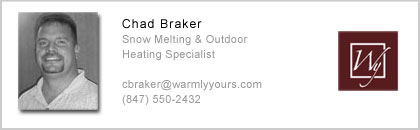 Chad Braker, Snow Melting Expert