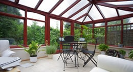 Heated sunroom and conservatory