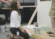 Lindsey Brown Assists with Radiant Floor Heating Install