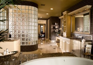 Bathroom design trends include new options in tile and radiant floor heating.