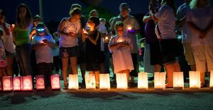 Luminariaas at Relay for Life Richmond/McHenry Township, June 22, 2013. Photo provided by Jenni Marie Photography.