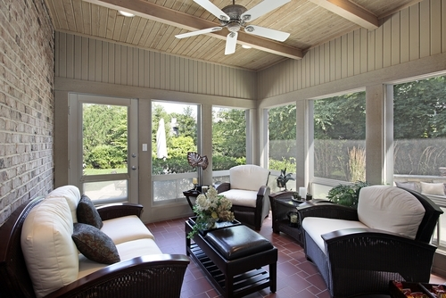 Seasonal Porches Can Be Outfitted with Radiant Heat for All-Year Use