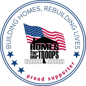 Homes For Our Troops Proud Supporter Logo