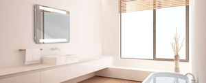 LAVA Light radiant panel in a luxury bathroom