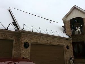 WarmlyYours donated a roof and gutter de-icing system to Tee Shirts 4 Troops.