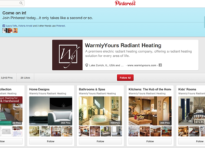 WarmlyYours Radiant Heating Pinterest page