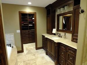 Luxury Master Bath Spa with radiant floor heating