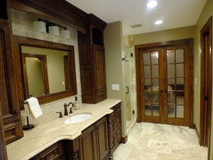 Luxury designer Master Bath Suite with radiant floor heating