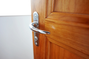 Universal design features, such as lever handles, make a home more accessible to people of all ages and abilities.