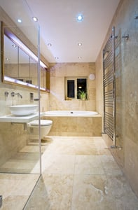 Heated towel warmers add style and comfort to any bathroom design.