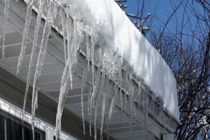 Icicles can signal the presence of ice dams  and potential water damage to your roof. A WarmlyYours Roof and Gutter Deicing System melts snow and ice to create a pathway to safely drain away water.