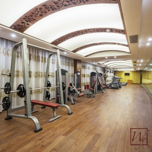 Branded gym radiant heat