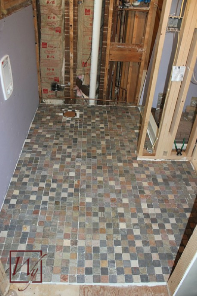 Finished heated tile floors