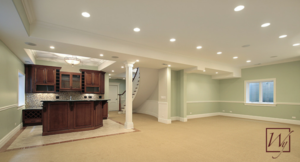 Basement w heated floors