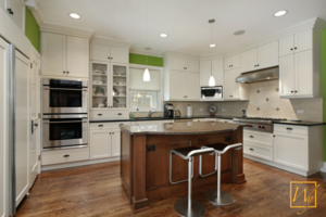 Kitchen heated floors countertops