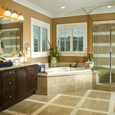 Bathroom heated tile floors