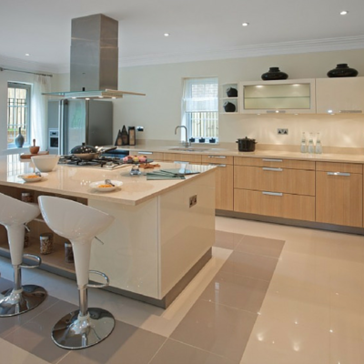Kitchen heated floors