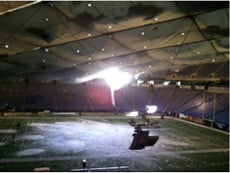 Metrodome Snow Roof