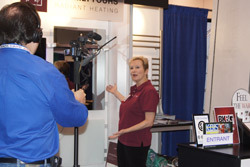 Julia being filmed at KBIS 2011