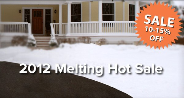 save money on snow melting and slab heating systems