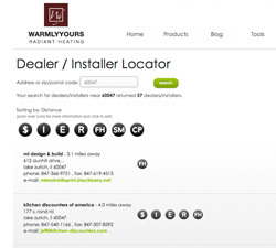 warmlyyours dealer installer locator