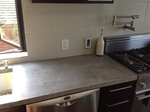 in-slab concrete heating installed in countertops with WarmlyYours