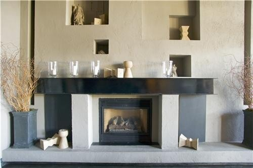 Utilizing a fireplace in your kitchen design