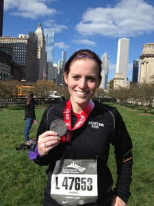 Sarah Tully completes the Chicago Marathon
