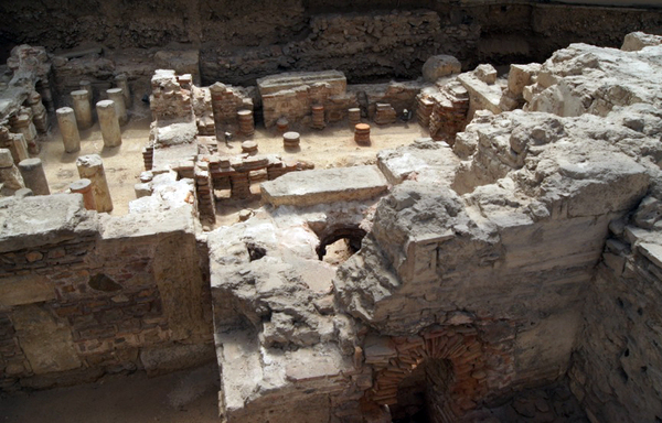 Ancient roman hypocaust system