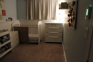 Radiant nursery with floor heating