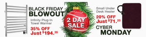 Black friday and cyber monday sale with warmlyyours