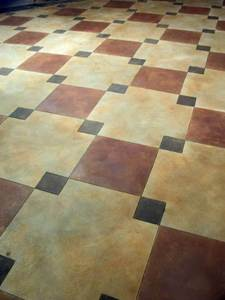 decorative and stamped concrete floors with radiant heating is increasing in popularity