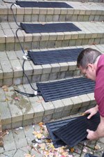 Chad Braker, WarmlyYours Tech Staff, Installing Stairway Heaters