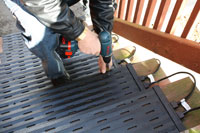 Chad Braker, WarmlyYours Tech Staff, Installing Heated Stairways