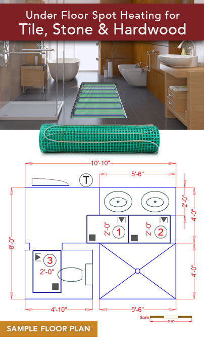 Easy Mat Floor Heating Coverage