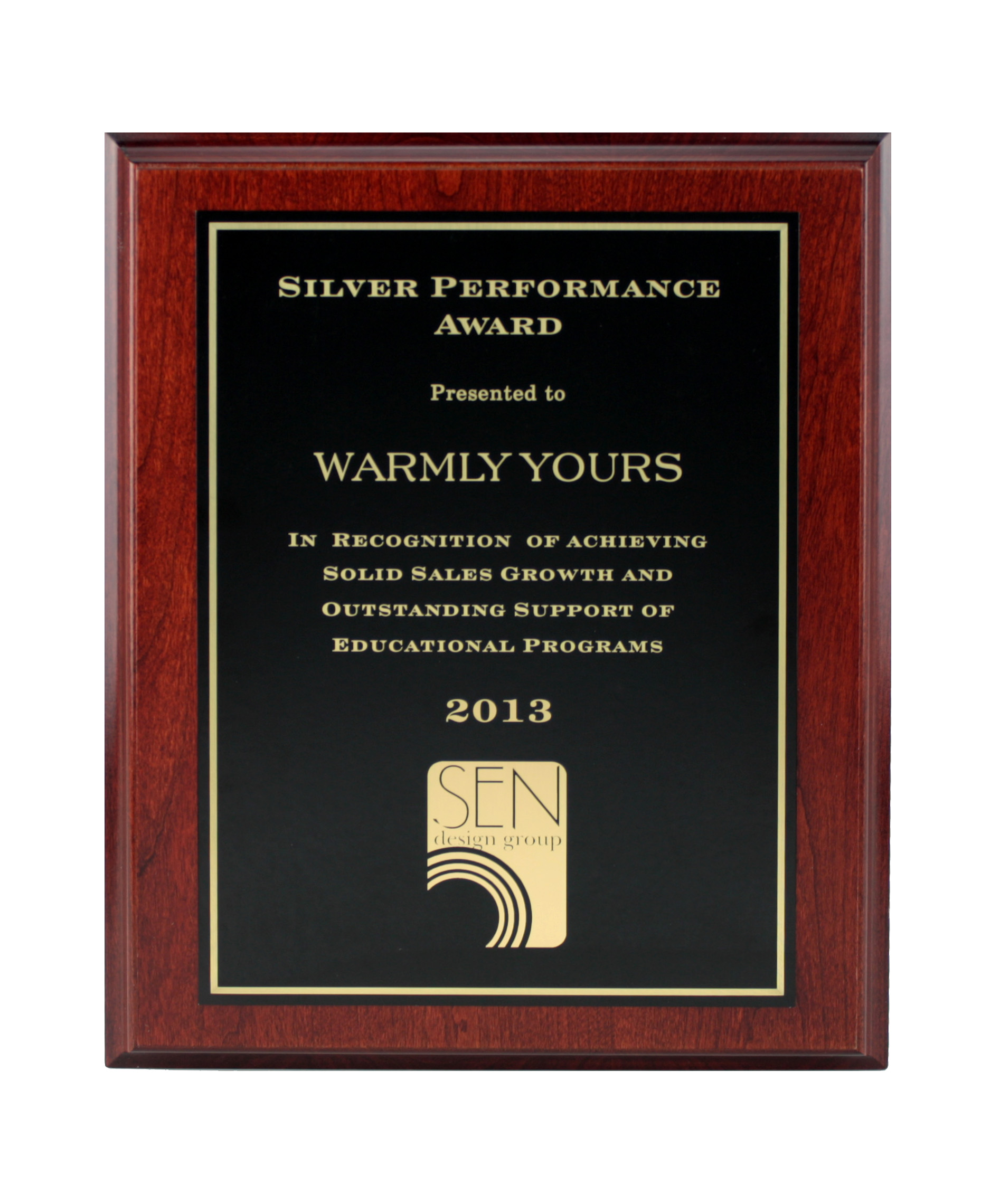 WarmlyYours 2013 SEN Award