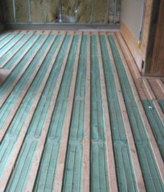 TempZone™ Floor Heating Under Hardwood Floors