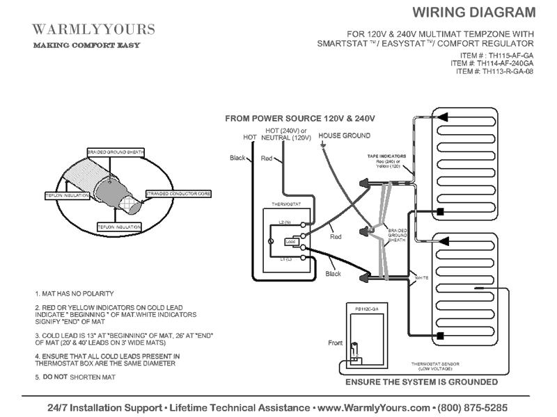 safety mat wiring diagram underfloor heating mat wiring diagram tempzone™ floor heating specs cad files